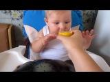 Мой малыш ест лимон